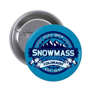 Hielo del botón de Snowmass Pin Redondo De 2 Pulgadas