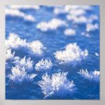 Hielo del copo de nieve impresiones