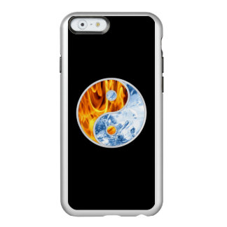 HIELO DEL FUEGO DE YIN-YANG FUNDA PARA iPhone 6 PLUS INCIPIO FEATHER SHINE