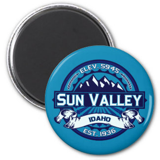 Hielo del logotipo de Sun Valley Imán Redondo 5 Cm
