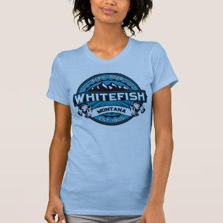 Hielo del logotipo del pescado blanco camiseta