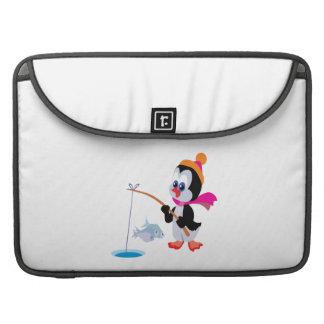 Hielo del pingüino que pesca 2 funda macbook pro