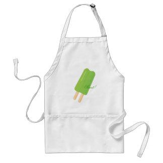 Hielo-Estallido verde Delantal