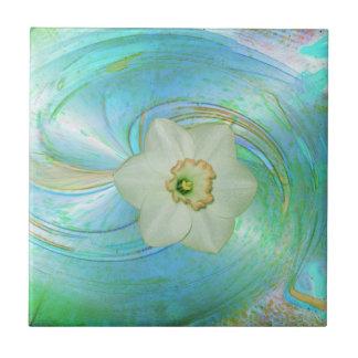 Hielo Flower´´ de Keramik Fliese `` Azulejo Cuadrado Pequeño