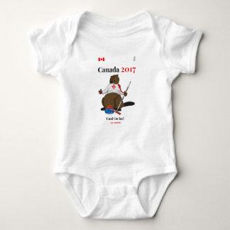 Hielo fresco que se encrespa de Canadá 150 en 2017 Body Para Bebé