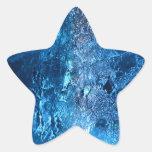 ¡Hielo - glacial - el sorprender! Pegatina En Forma De Estrella