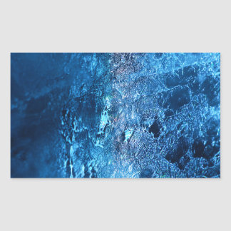 ¡Hielo - glacial - el sorprender! Pegatina Rectangular