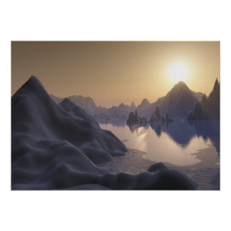 hielo (lago encapuchado) poster