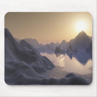 hielo (lago encapuchado) alfombrillas de ratones