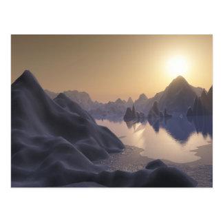 hielo (lago encapuchado) tarjetas postales