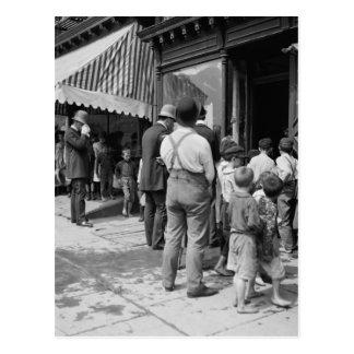 Hielo libre en NYC 1900 Postales
