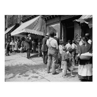 Hielo libre en NYC, 1900 Postal