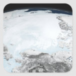Hielo marino ártico 2 pegatina cuadrada