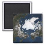 Hielo marino ártico imán cuadrado