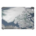 Hielo marino ártico sobre Norteamérica