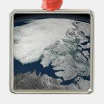 Hielo marino ártico sobre Norteamérica Ornamento De Reyes Magos