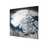 Hielo marino ártico sobre Norteamérica Lona Estirada Galerías
