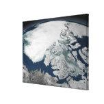 Hielo marino ártico sobre Norteamérica Lienzo Envuelto Para Galerias