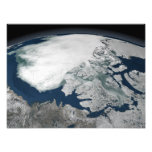 Hielo marino ártico sobre Norteamérica Arte Con Fotos