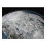 Hielo marino sobre Norteamérica Fotos