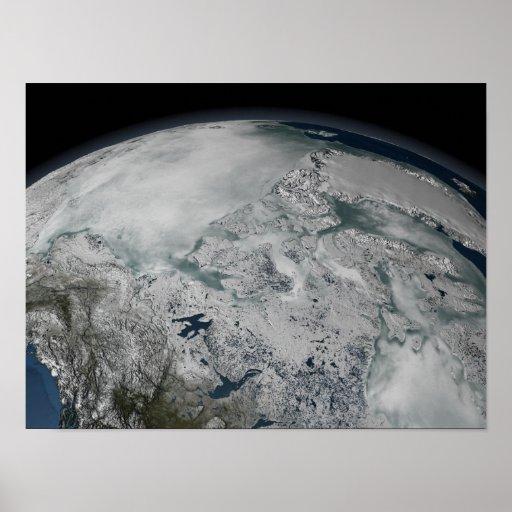 Hielo marino sobre Norteamérica Posters