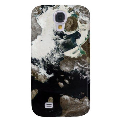Hielo marino y sedimento visibles en Nunavut, Funda Para Galaxy S4