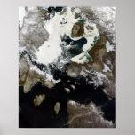 Hielo marino y sedimento visibles en Nunavut, Póster