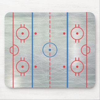 Hielo Mousepad de la pista del hockey