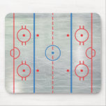 Hielo Mousepad de la pista del hockey Alfombrillas De Ratón