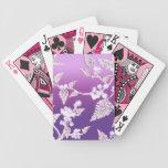 hielo púrpura cartas de juego
