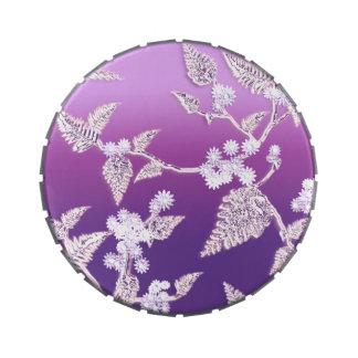 hielo púrpura jarrones de dulces