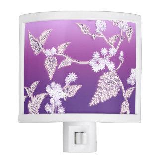 hielo púrpura lámpara de noche