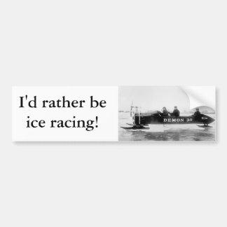 Hielo que compite con, Duluth, los años 10 Etiqueta De Parachoque