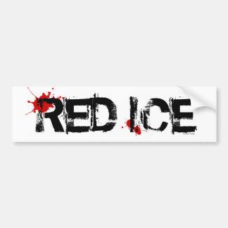 Hielo rojo etiqueta de parachoque