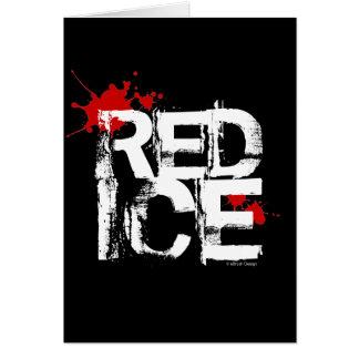 Hielo rojo (hockey) tarjeta de felicitación