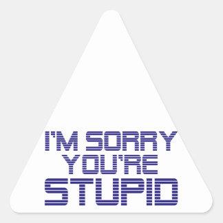 Hielo triste pegatina triangular