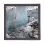 Hielo y nieve hivernales - río del glaciar cajas de recuerdo de calidad