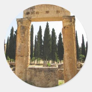 Hierapolis - ancient Greek city near  Pamukkale Classic Round Sticker