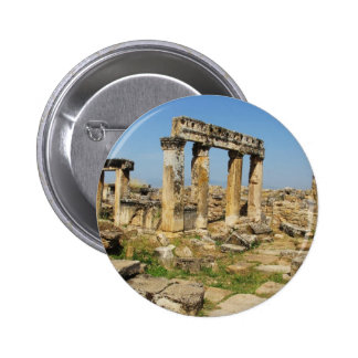 Hierapolis became a healing centre in Roman times Pinback Button