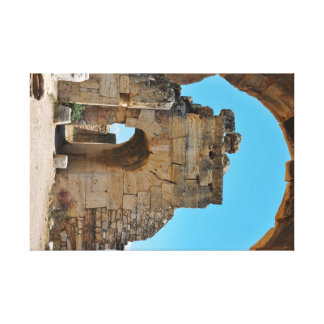 hierapolis city architecture turkey ruins travel canvas print
