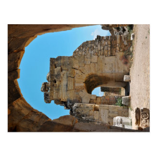 hierapolis city architecture turkey ruins travel postcard