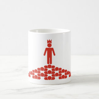 Hierarchy with King on top Coffee Mug