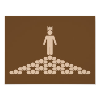Hierarchy with King on top Poster