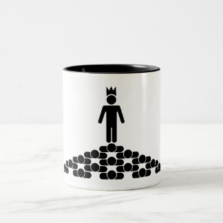 Hierarchy with King on top Two-Tone Coffee Mug