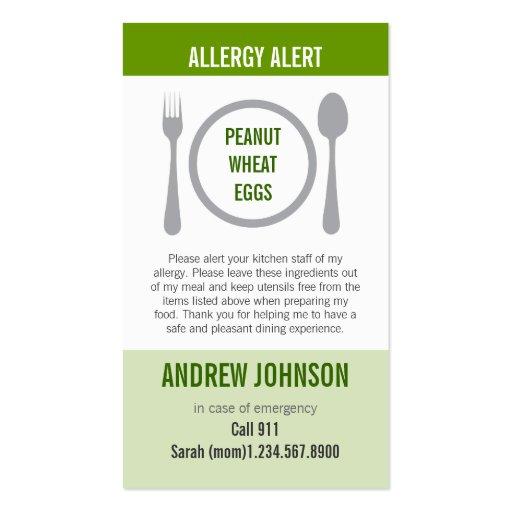 Hierba alerta Duotones de la alergia Plantillas De Tarjetas Personales