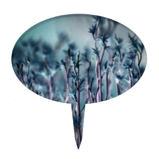 Hierba azul figura para tarta