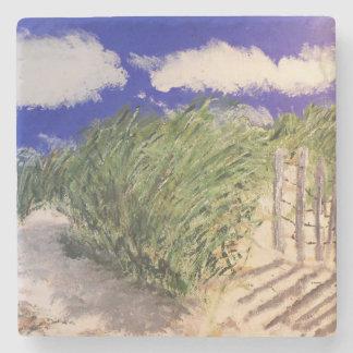 hierba de la duna posavasos de piedra