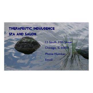 Hierba de la piedra y del agua en tarjeta de visit
