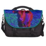 Hierba de la púrpura de la vaca del bebé bolsa de ordenador