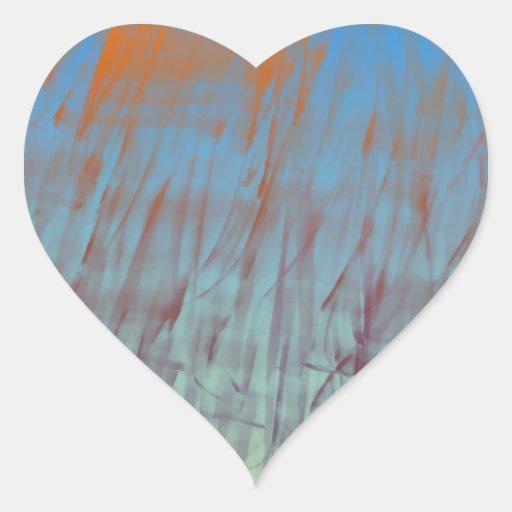 Hierba de la turquesa calcomanías corazones